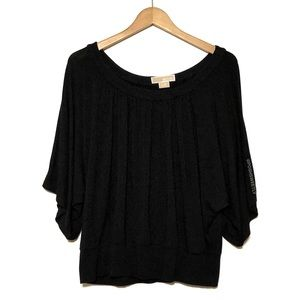 Michael Kors Black Draped Blouse